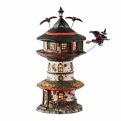"""Department 56 Halloween """"WITCH WAY HOME TOWER"""" New 2016 FREE SHIPPING"""