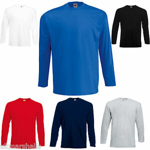 12-FRUIT-OF-THE-LOOM-L-SLEEVED-T-SHIRTS-S-M-L-XL-XXL