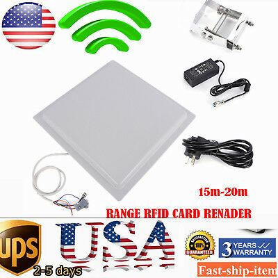 Uhf Rfid Long Range Card Reader Rs232485wiegand Parking System Access Control