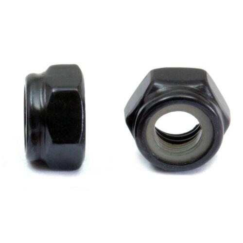 Nylon Insert Lock Nuts Steel w/ Black Oxide - M3 M4 M5 M6 M8 M10 DIN 985 Class 8