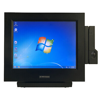 Tekvisions Restaurant Pos Terminal Windows Touchscreen 15 Swipechip Reader