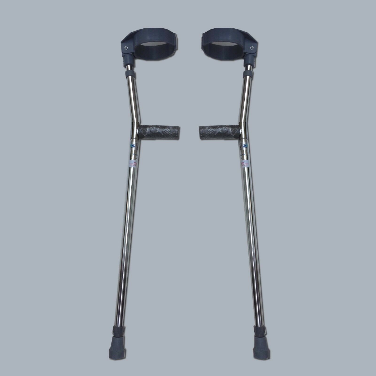 Forearm Crutches Silver Size M (pair), Walking Lightweigh...