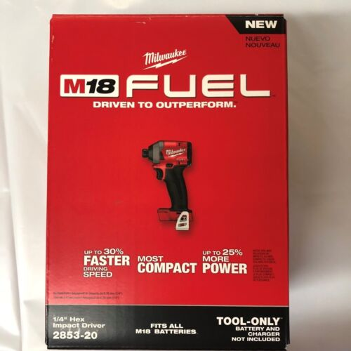 Milwaukee M18 Fuel Lithium 1/4 Impact  2853-20 BRAND NEW Bare replaces 2753-20