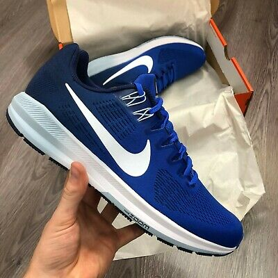 NIKE AIR ZOOM STRUCTURE 21 BLUE RUNNING SHOES TRAINERS SIZE UK8 US9 904695-402