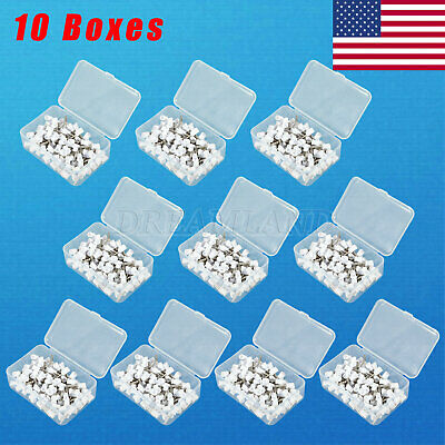 Usa White Firm Dental Polishing Cups Latch Type Rubber 4 Webbed Cup Brush