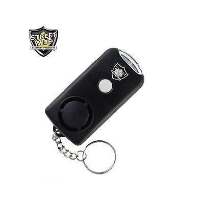 Keychain Personal Security Panic  Attack Hand Held Safety Alarm & LED Flashlight