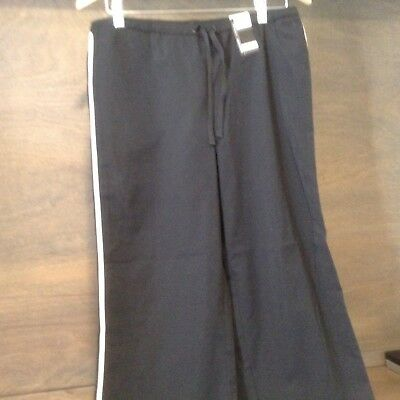 NY&C WOMENS EAST HOUSTON CROP Capri Pants BLACK WITH WHITE STRIP NEW NWT SMALL