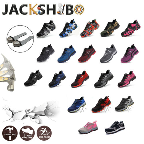 Womens Work Safety Shoes Breathable Outdoor Hiking Steel Toe