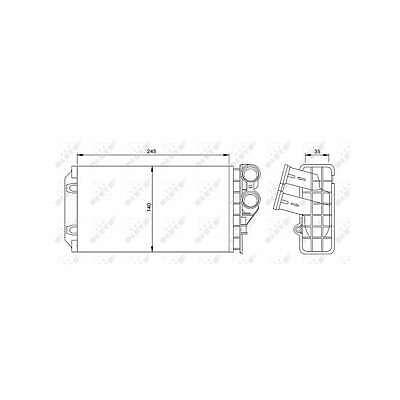 Fits Citroen C4 1.6 THP 150 Genuine NRF Heat Exchanger Interior Heater Matrix
