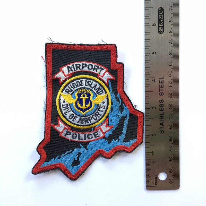 RI AIRPORT POLICE PATCH BLOCK ISLAND NEWPORT SSI DIVISION AIRPORTS OCEAN STATE