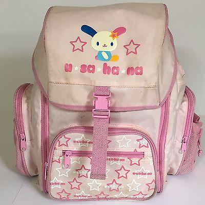 Sanrio Usahana Backpack Book Bag Daypack Expandable Pink