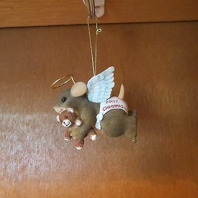 "Charming Tails ""Little Angel"" Ornament with Box"