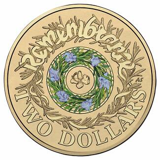 Remembrance Day 2017 PNC (COLOURED $2 COIN)