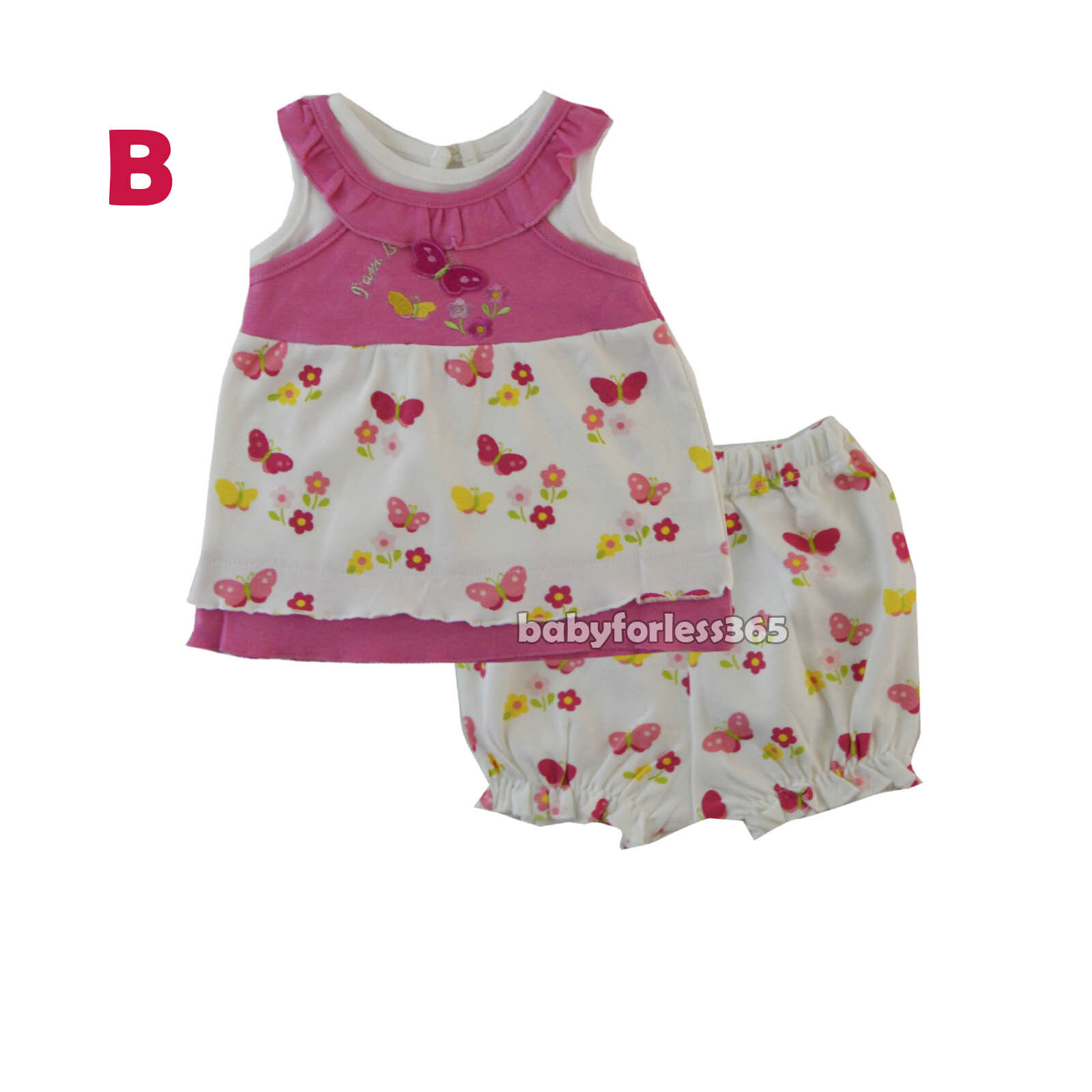 03ded1bdb New Baby Girls Outfits Clothes 2 Pieces Shirt with Shorts Size 3 6 9 ...