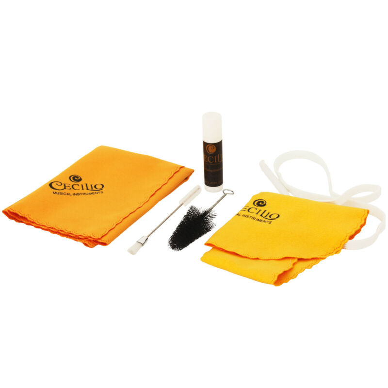 Cecilio Clarinet Care Kit ~ Swabs, Brush, Cloth, Grease