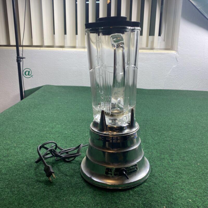 VINTAGE WARING ARISTOCRAT BEEHIVE BLENDER MODEL MR1 GLASS JAR 2 SPEED