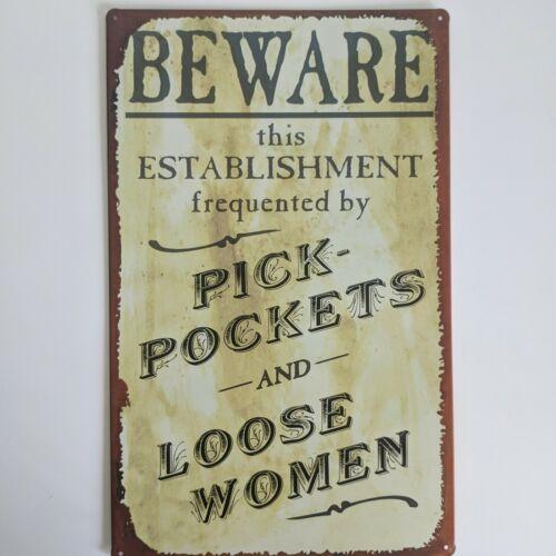 Vintage Poker Players Establishment Bar Wall Mount Metal Tin Bar Sign Plaque