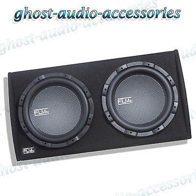 Fli Fu12at 12  Twin Active Sub Subwoofer Enclosure Boom Speaker Amp Amplifier