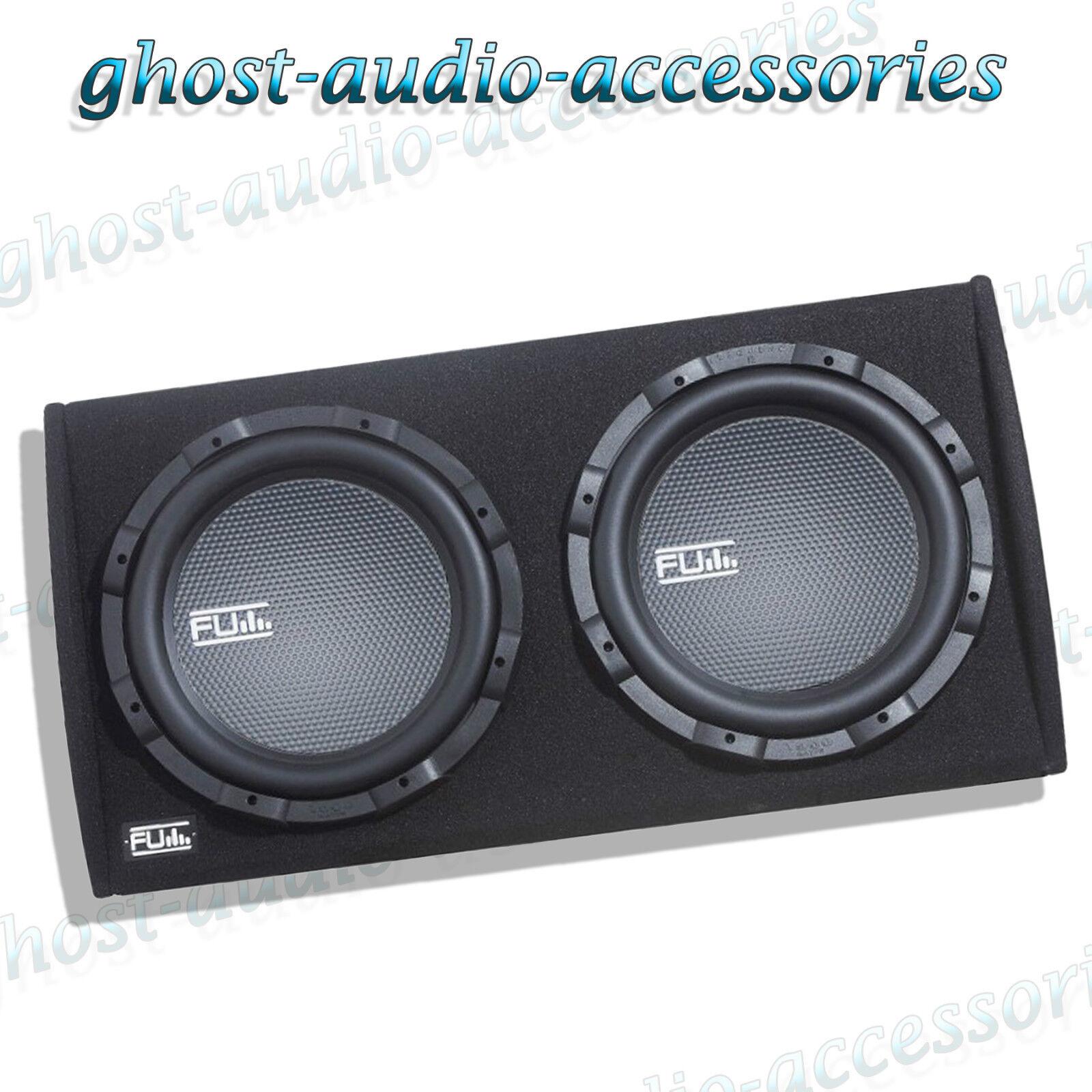 fli fu12at 12 twin active sub subwoofer enclosure boom speaker amp rh ebay com