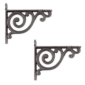 Cast Iron Wall Bracket Shelf Cistern Toilet Vintage Victorian Style Pair Of New