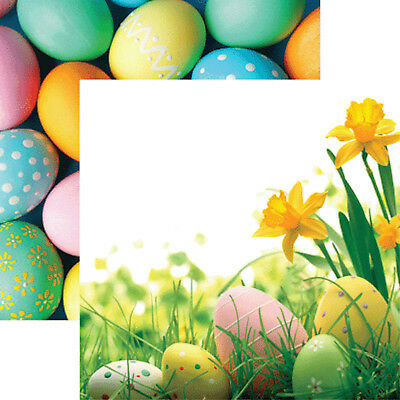 Easter Paper (Reminisce Hello Spring HAPPY EASTER 12x12 Dbl-Sided (2pc) Scrapbooking)