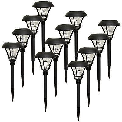 Black Stake - WESTINGHOUSE Black Kenbury Solar Garden 10 Lumen LED Stake Path Lights (12 Pack)