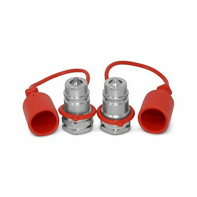 2 Pack - 12 Ag Iso 5675 Hydraulic Quick Connect Male Coupler Poppet Valve...