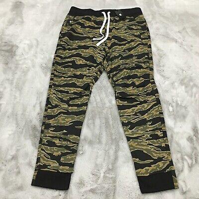 G-Star Raw Tiger Camo Sweat Pants Sage Green / Black Mens Size XS $120 New
