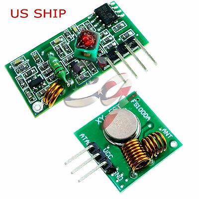 433Mhz RF Transmitter and Receiver Module link kit for Arduino - USA seller ()