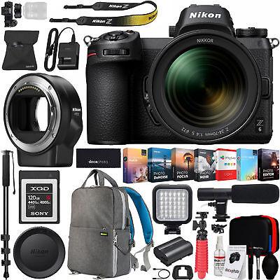 Nikon Z6 FX Mirrorless Camera & NIKKOR Z 24-70mm f/4 S Lens + FTZ Adapter Bundle