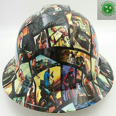 Hard Hat Full Brim Custom Hydro Dipped Osha Approved Sticker Bomb New