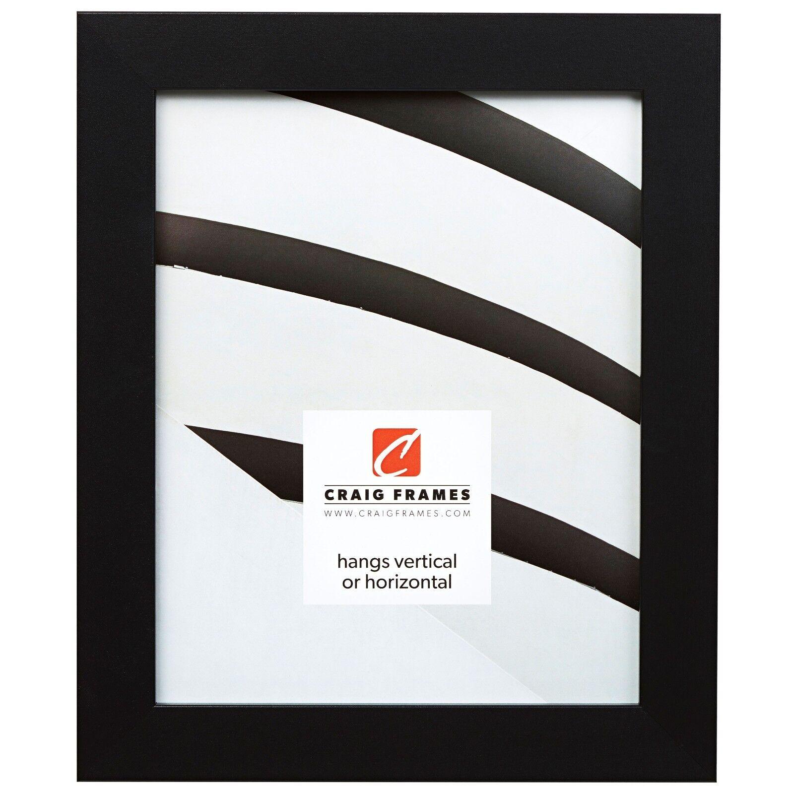 "Craig Frames Bauhaus, 1.25"" Modern Satin Black Picture Frame"