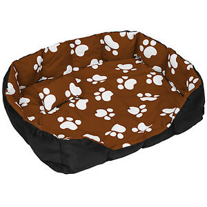 lit douillet pour chiens panier corbeille couchage pour chats xxl noir brun ebay. Black Bedroom Furniture Sets. Home Design Ideas