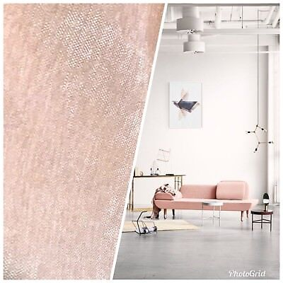 Designer Velvet Chenille Fabric - Ballet Pink - Upholstery BTY Pink Velvet Fabric