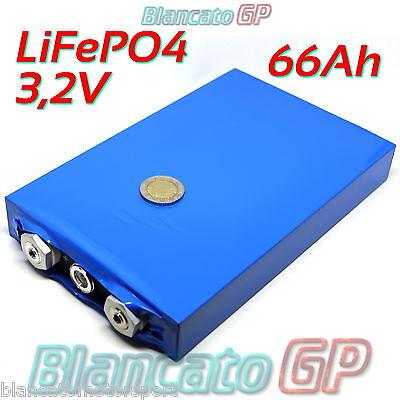 Batería Célula LiFePO4 Prismática 3,2V 66Ah Ups Solar Litio Bicicleta Eléctrica