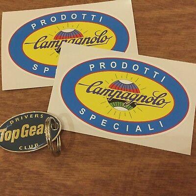 CAMPAGNOLO Prodotti Speciali Classic Retro Car Stickers Decals 100mm 2 off