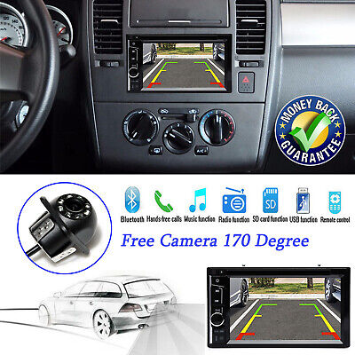 6.2'' 2Din Car Stereo DVD CD Player FM Bluetooth Touch Screen Auto Radio USB SD, used for sale  USA