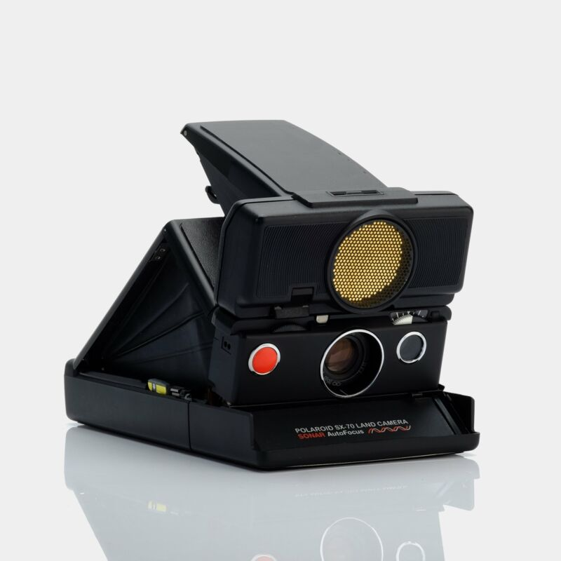 Polaroid SX-70 Sonar Autofocus Black Folding Instant Film Camera