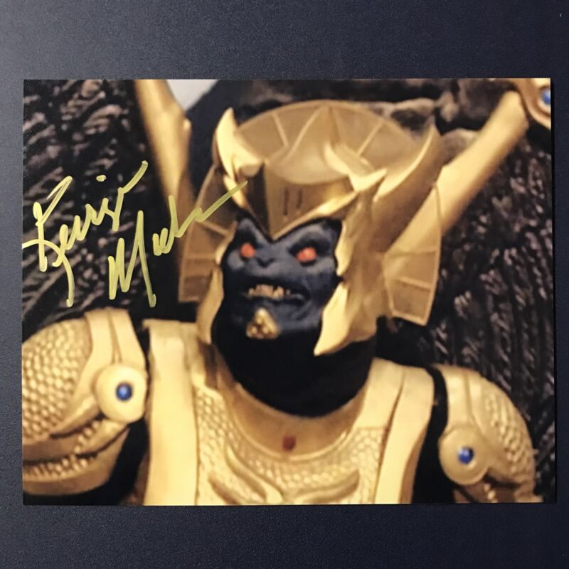 KERRIGAN MAHAN HAND SIGNED 8x10 PHOTO ACTOR AUTOGRAPHED GOLDAR POWER RANGERS COA