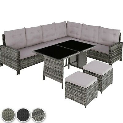 Rattan Garden Furniture Lounge Set Dining Group Corner Sofa Table Outdoor Patio