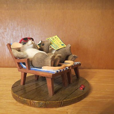 """Charming Tails """"Time For A Little R & R""""  with Box"""