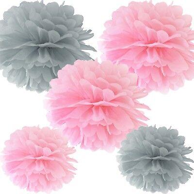 - rosa und grau - Dekoration Geburtstag Hochzeit Taufe Party (Rosa Und Grau Party Dekorationen)