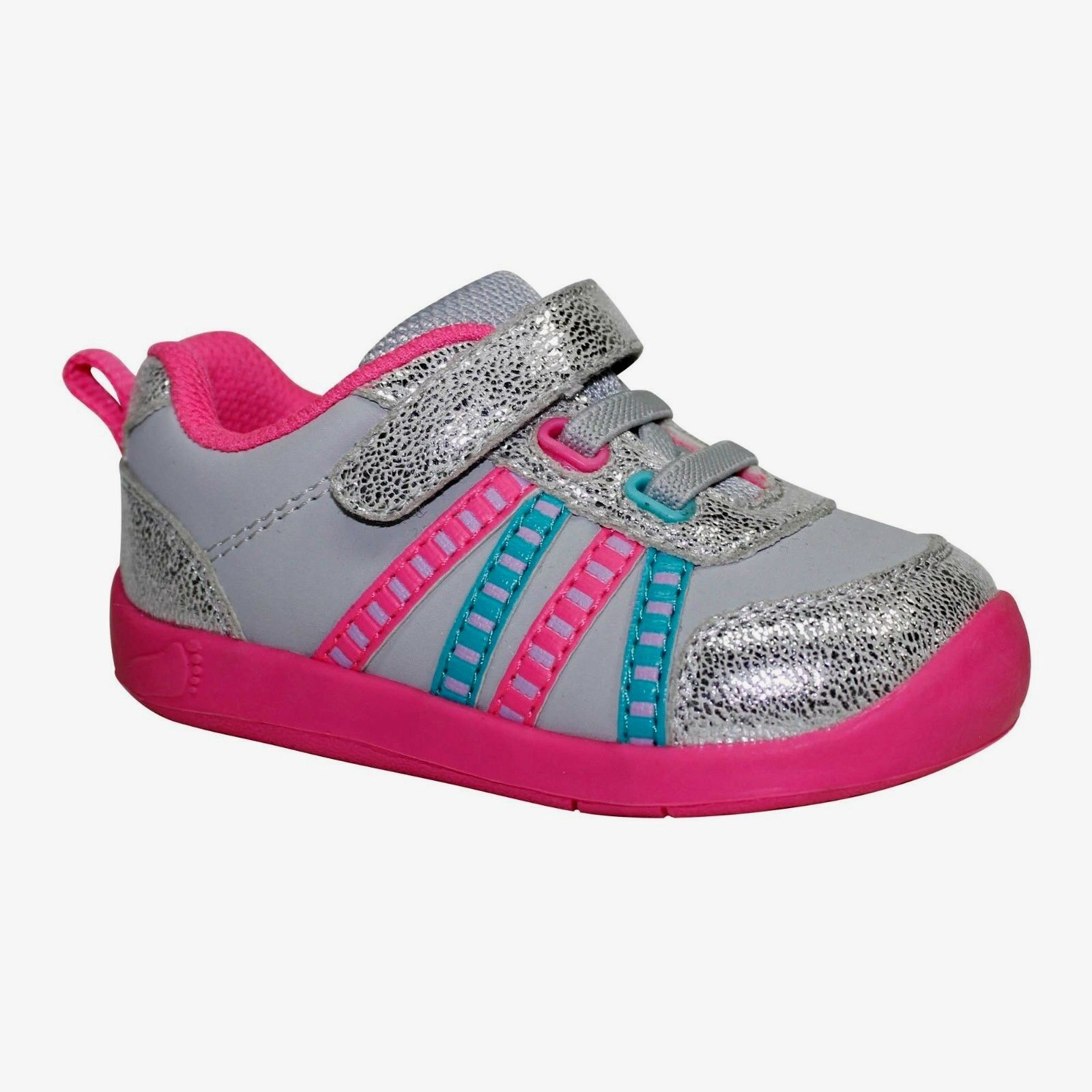 Garanimals Baby Girl Athletic Shoes Pink Gray Silver Glitter