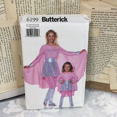 Butterick 6199 Female adult kid superhero costume UNCUT sewing Pattern all size ](Female Superhero Plus Size Costumes)