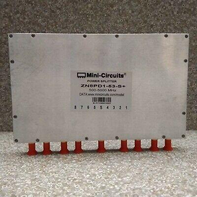 Mini-circuits Zn8pd1-53-s Power Splitter Combiner 500-5000 Mhz Sma 8 Way