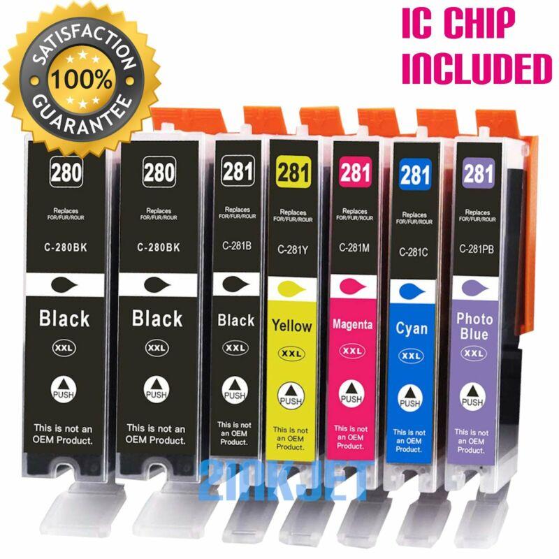 7pk PGI-280 XXL CLI-281 XXL Ink for Canon Pixma TS8120 TS8220 TS8320 TS8322