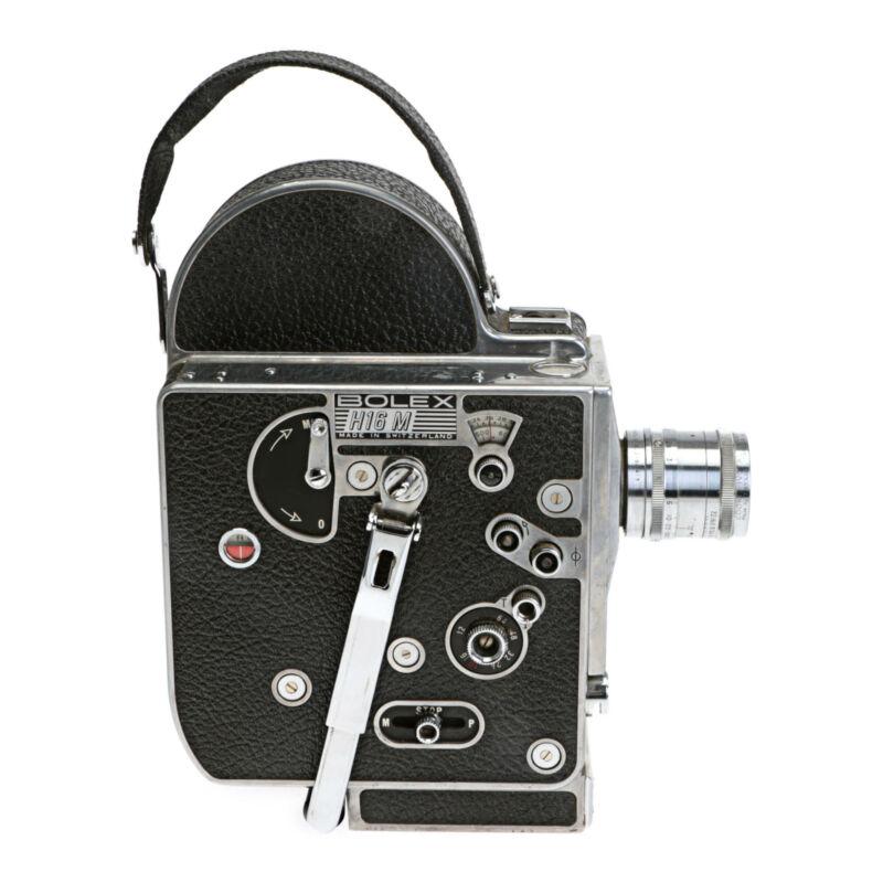 Bolex H16 M 16mm Film Movie Camera with Cooke Ivotal Anastigmat 1 Inch F1.4 Lens