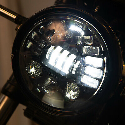 7 ADAPTIVE LED MOTORCYCLE HEADLIGHT   PERFECT FIT FOR A TRIUMPH BONNE
