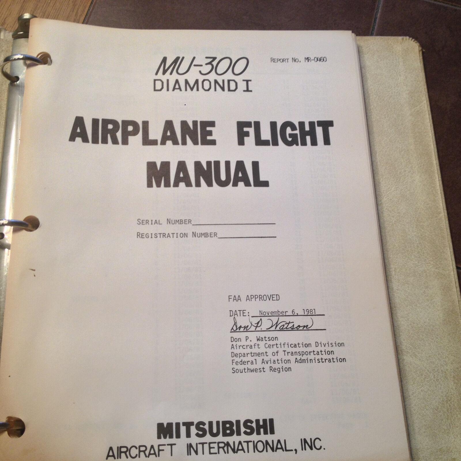 Mitsubishi MU-300 Diamond 1 Airplane Flight Manual