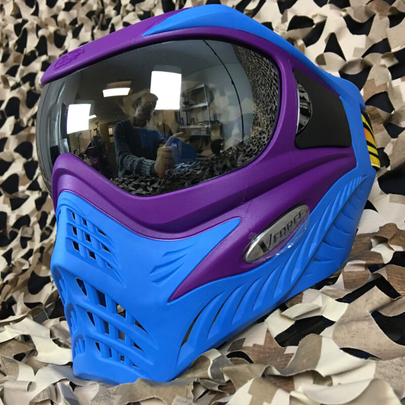 NEW V-Force Grill Thermal Anti-Fog Paintball Mask Goggle - SE Purple/Blue